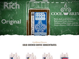 CoolBrew Coffee Website