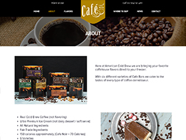 Cafe Bars Website