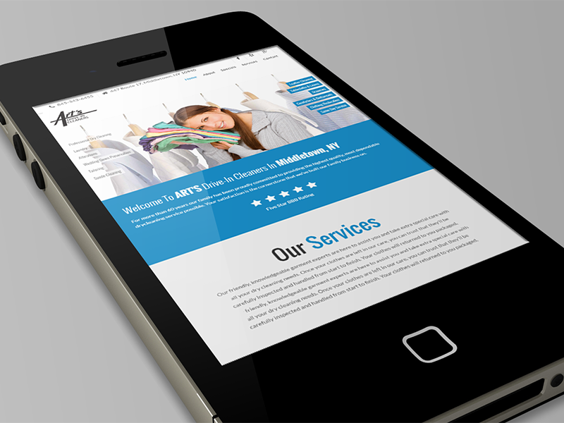 Responsive Wordpress Website Design For Art's Cleaners